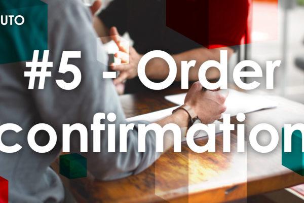 ✅ #5 Métré & confirmation de commande