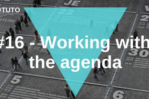 📅 #16 Working with the agenda